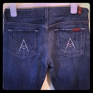 7 For All Mankind 'A' pocket Jeans 29x31 EUC